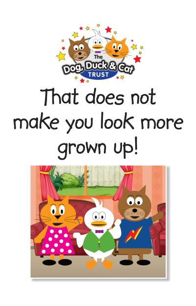 Link to storybook: That does not make you look more grown up